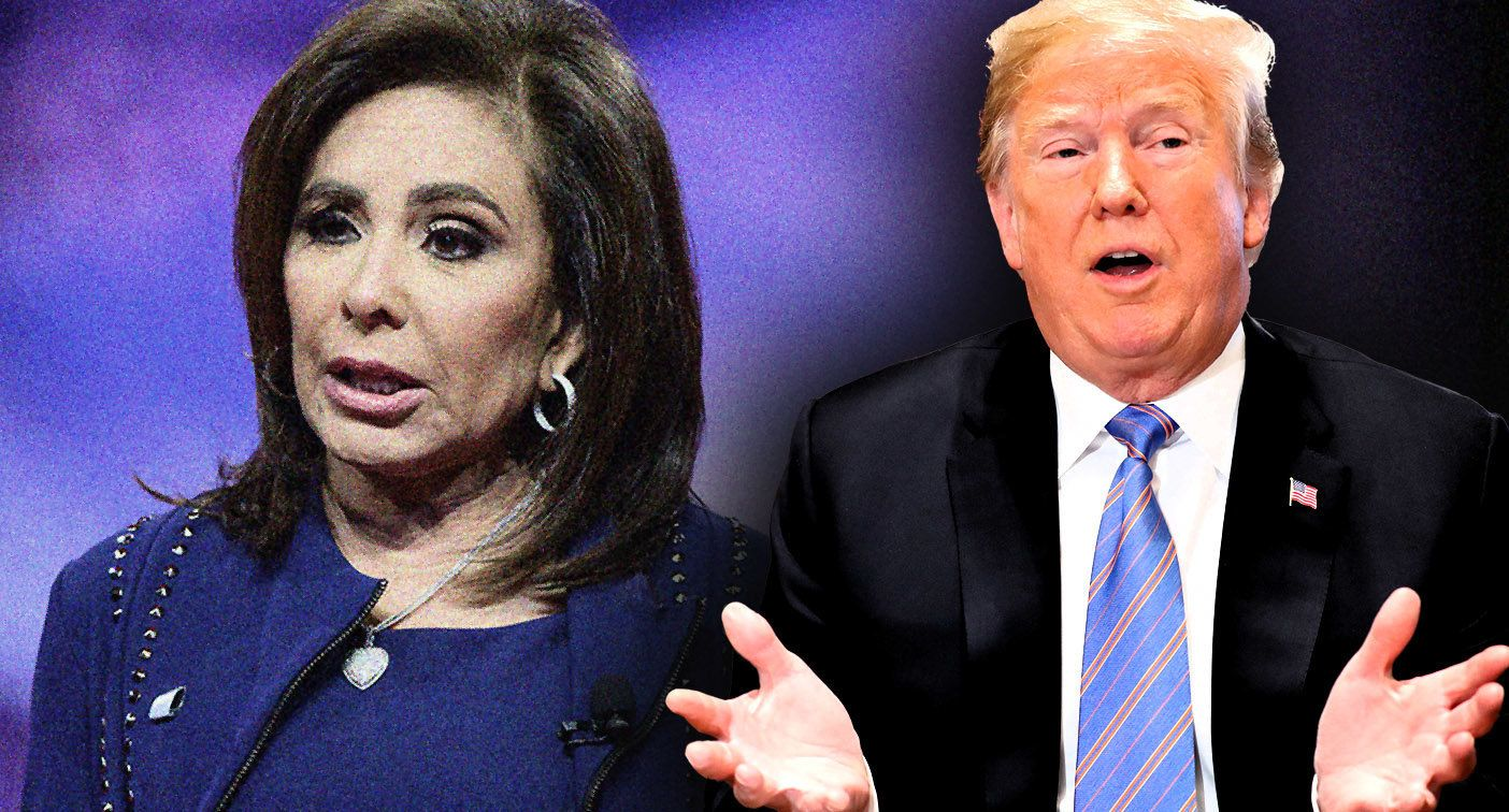 Judge Jeanine Pirro and President Donald Trump.  (Photo illustration: Yahoo News; photos: Ron Sachs/CNP via ZUMA Wire, AP)