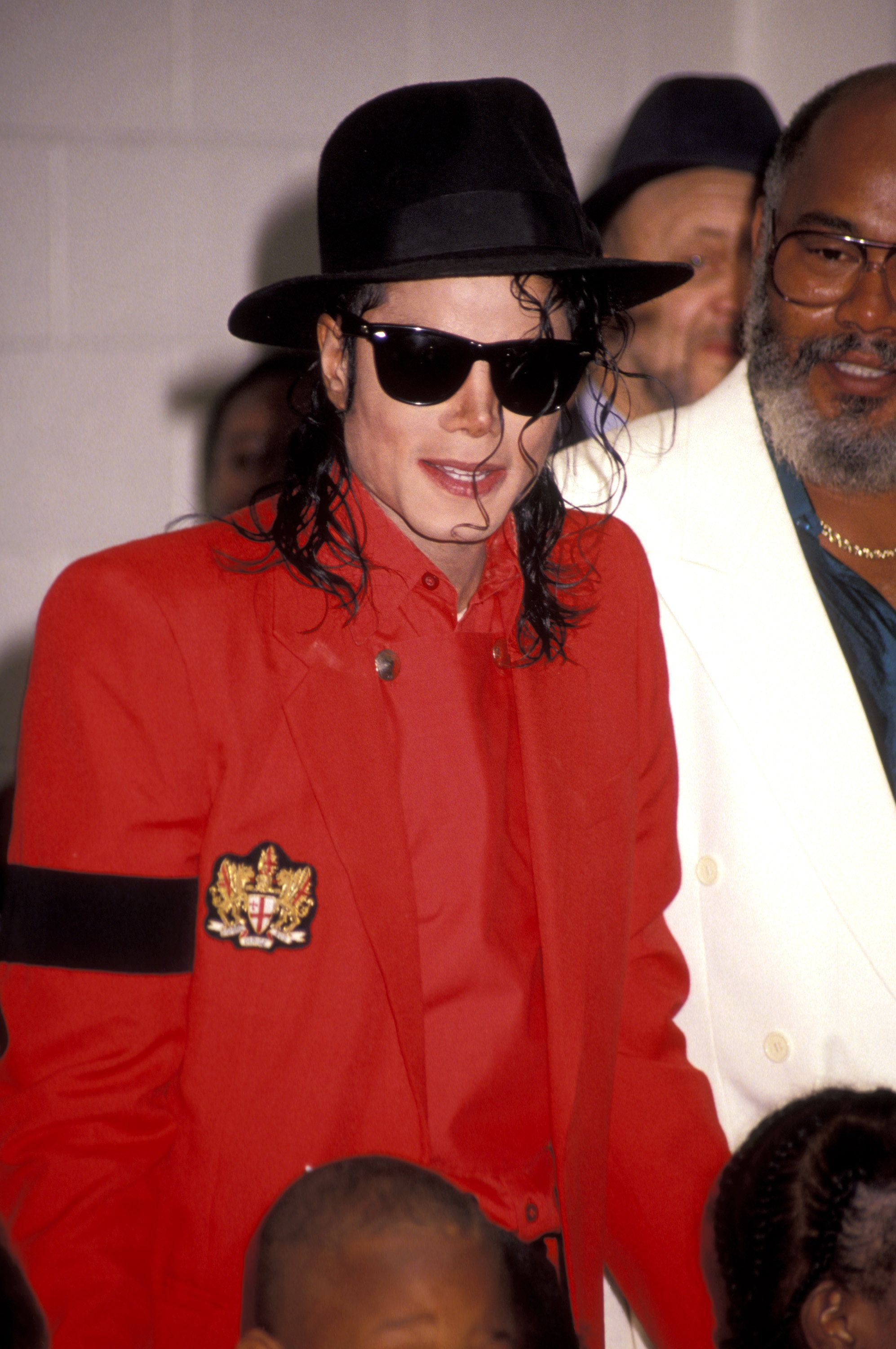 Michael Jackson during Michael Jackson Visit to the Community Youth Sports & Arts Foundation at Community Youth Sports & Arts Foundation in Los Angeles, California, United States. (Photo by Ron Galella/WireImage)