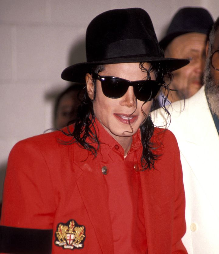 A glove, fedora and a poster of the late singer Michael Jackson have been removed from an exhibit atthe Children'