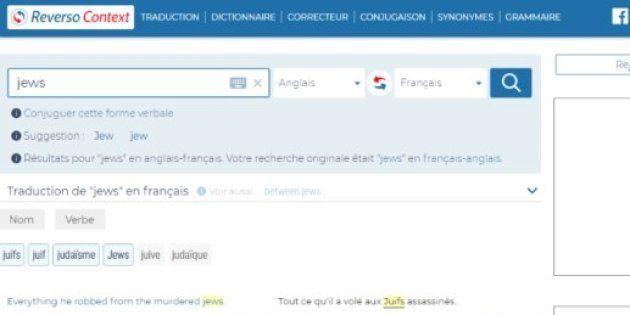 Escándalo por las frases antisemitas de la web de traducción