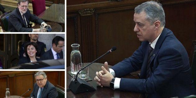 Mariano Rajoy, Saénz de Santamaría, Juan Ignacio Zoido e Íñigo Urkullu, ante el