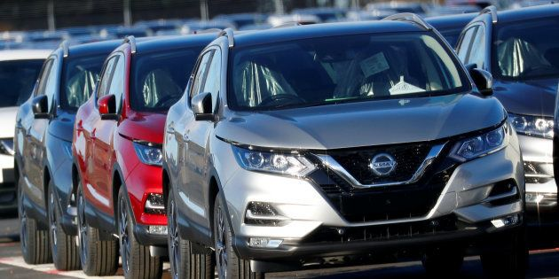 Qashqai cars by Nissan are seen parked at the Nissan car plant in Sunderland, Britain February 4, 2019....