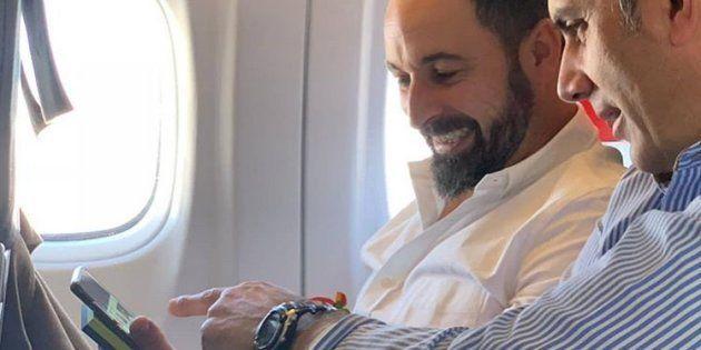 Santiago Abascal, en una imagen de su cuenta en Instagram junto a Javier Ortega
