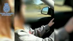 Detenida una menor por conducir a más de 220