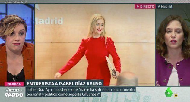 Cristina Pardo e Isabel Díaz Ayuso en 'Liarla