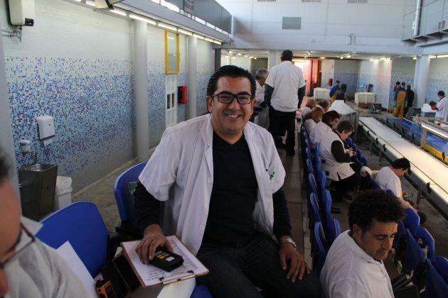 Rafael Martínez, responsable de compras de pescadería de El Corte Inglés en la zona sur de levante, en...