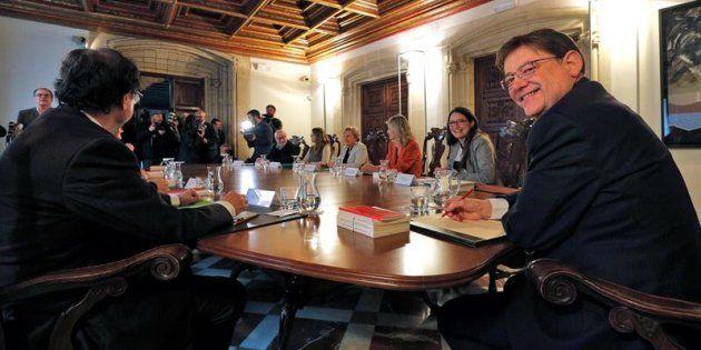 El Gobierno valenciano se ha reunido en el Palau de la Generalitat convocado de urgencia por el president,...