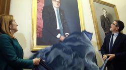 El cuadro de Patxi López en el Congreso: con el símbolo de las víctimas del