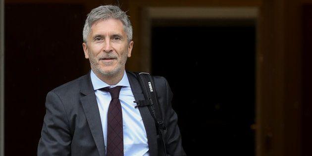 Fernando Grande-Marlaska, llegando a un Consejo de Ministros en La Moncloa, en una imagen de
