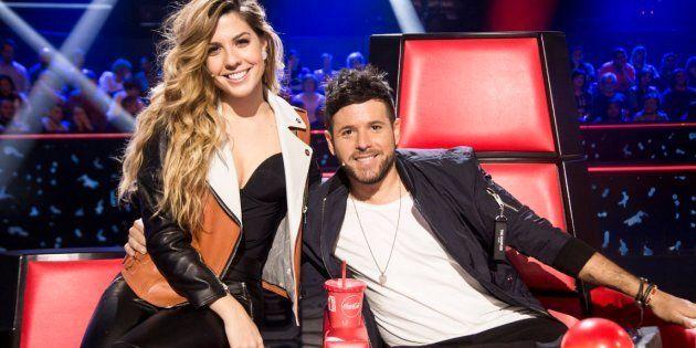 Miriam Rodríguez y Pablo López, en 'La Voz' (Antena