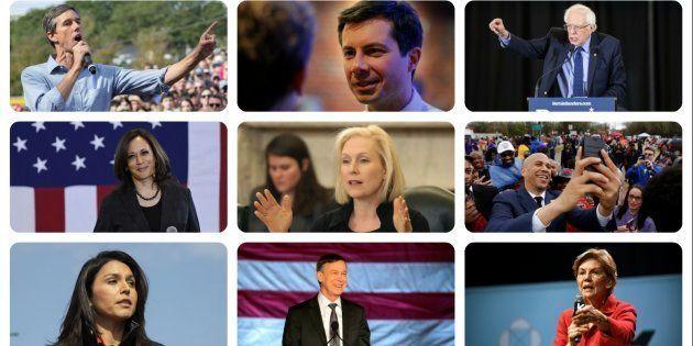 Combo con algunos de los aspirantes a ser el candidato