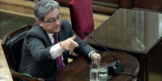 Captura de la señal del Tribunal Supremo del ex delegado del Gobierno, Enric Millo, durante su declaración...