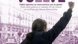 Iglesias retoma la actividad política el 23 de marzo con un acto en