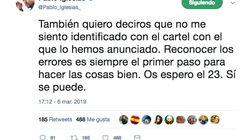 Pablo Iglesias se disculpa por el cartel que anuncia su vuelta pero ya es demasiado tarde: las bromas son