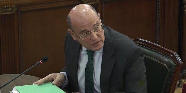 Captura de la señal del Tribunal Supremo durante la declaración en el juicio del coordinador del dispositivo...