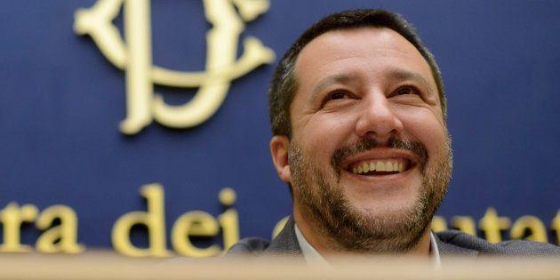 Matteo Salvini, el pasado 4 de marzo, durante una rueda de prensa en la que planteó un plan de choque...