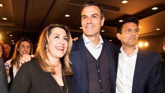 Susana Díaz y Pedro Sánchez, en una imagen de este