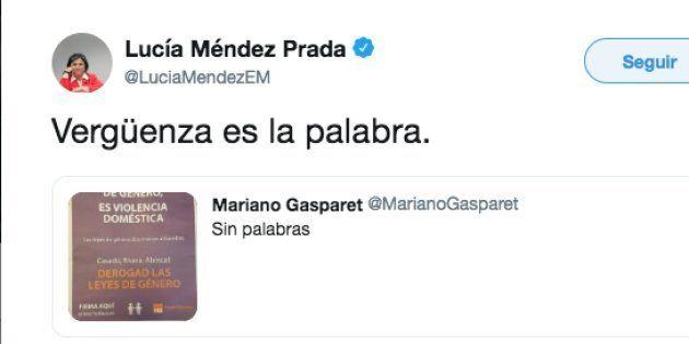 El tuit de Lucía Méndez tras la publicidad de