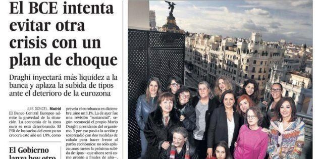 Portada del periódico El País del 8 de marzo de