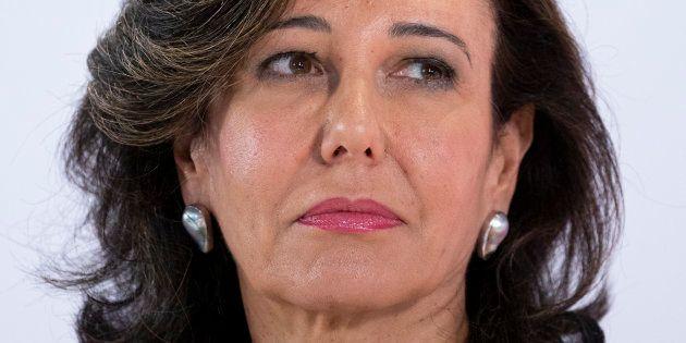 La presidenta de Banco Santander, Ana Botín, en la presentación de los resultados de 2018 en Boadilla...