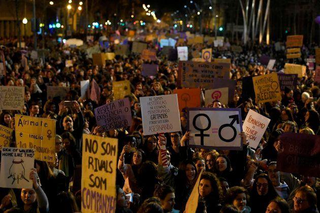 Manifestación en Barcelona por el