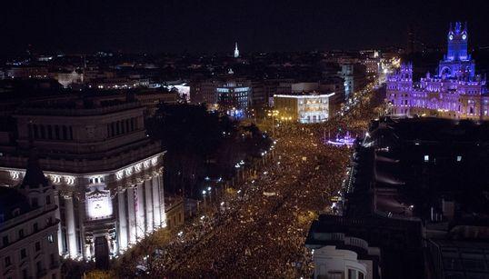 Las espectaculares imágenes aéreas de la manifestación del 8-M en