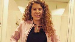 Carla Vigo Ortiz, la sobrina de la reina Letizia, como una más en la manifestación del