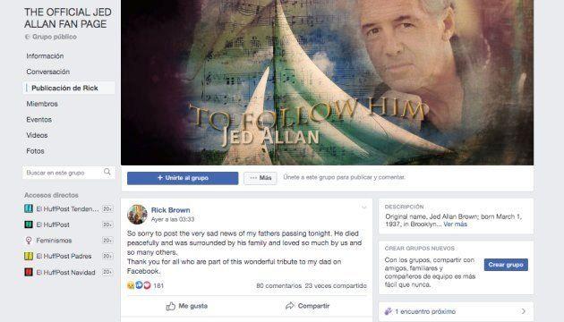 Comunicado en el perfil de Facebook de Jed