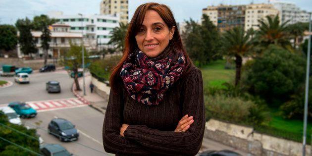 La periodista y activista Helena Maleno posa en Tánger, en enero de 2018, cuando se inició el proceso