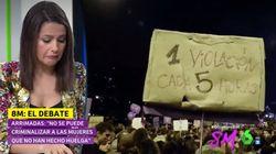 Arrimadas se sorprende en directo cuando hablaba de feminismo: