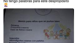 El llamativo y viral menú infantil de una cafetería de Segovia que no te debes