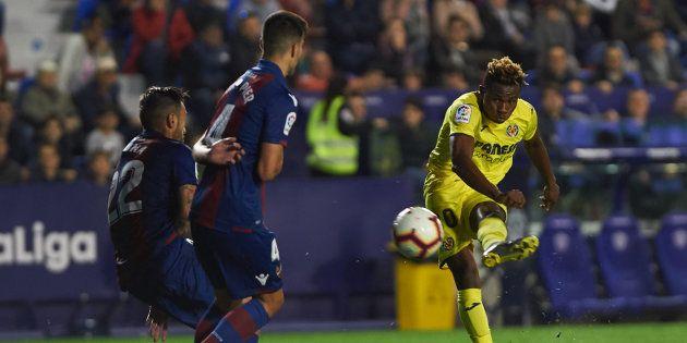 Sorpresa generalizada por lo que se vio en las pantallas del estadio del Levante durante el partido contra...