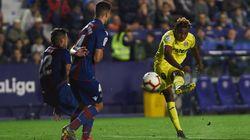Sorpresa generalizada por lo que se vio en las pantallas del estadio del Levante durante el partido contra el