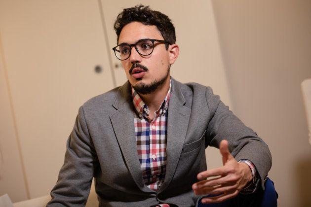 Carlos Ríos, durante la