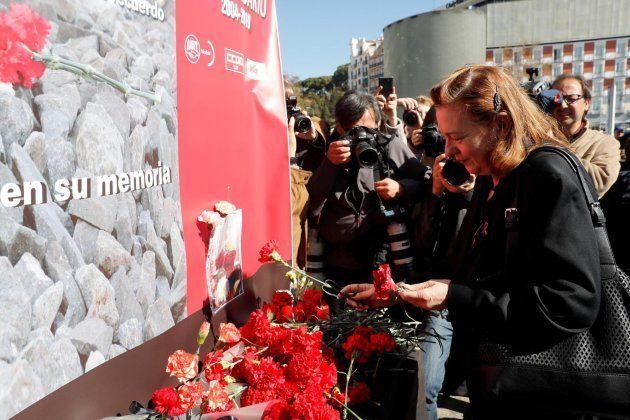 Pilar Manjón participa en los actos de recuerdo a las víctimas del 11M en el decimoquinto aniversario...