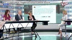 Susanna Griso abronca a una tertuliana por poner este tuit en directo de 'Espejo