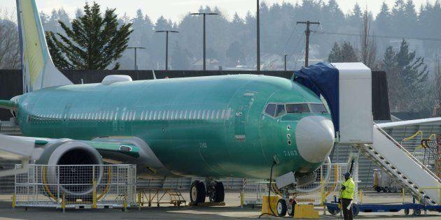 Un avión Boeing en