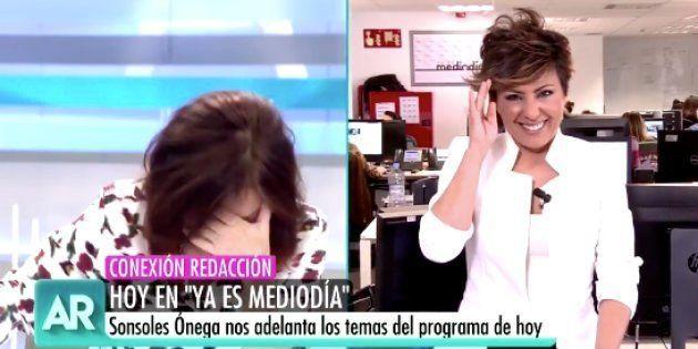 La cómica confusión de Sonsoles Ónega y Ana Rosa Quintana (Telecinco) en directo: