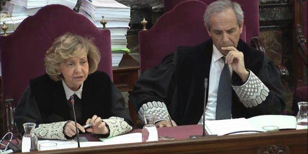 Captura de la señal del Tribunal Supremo con la intervención de la fiscal general del Estado, Consuelo...