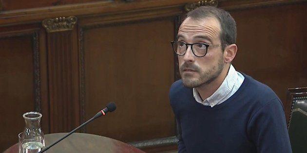 El responsable de Difusión Institucional de la Generalitat, Jaume Mestre, durante su declaración en el...