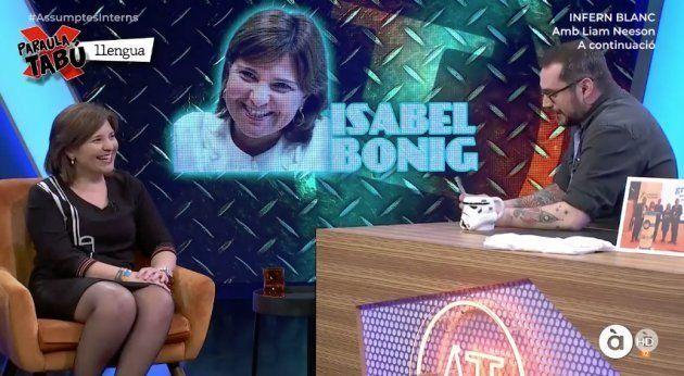 Isabel Bonig en la televisión autonómica