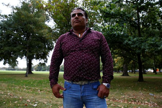 Abdul Aziz, who is being hailed for distracting and confronting the mosque shooter, speaks in Christchurch,...