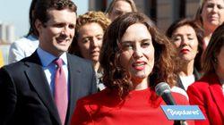 La candidata del PP a la Comunidad de Madrid usa un coche pagado con dinero público para sus actos de