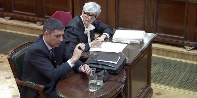 Captura de la señal del Tribunal Supremo con la declaración de Josep Lluís Trapero, ex jefe de los Mossos
