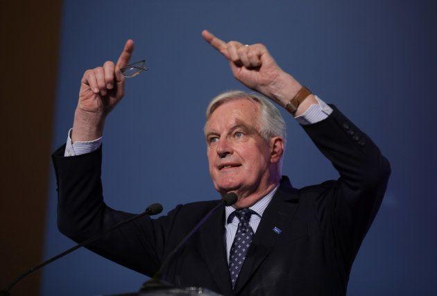 Michel Barnier, durante su comparencia de hoy en