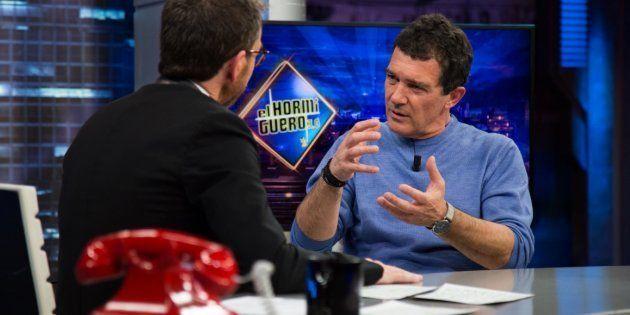 Antonio Banderas con Pablo Motos en 'El Hormiguero' (Antena