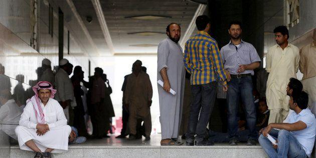 Trabajadores migrantes en Arabia