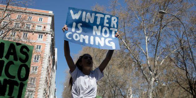 Manifestación en defensa del medio ambiente en