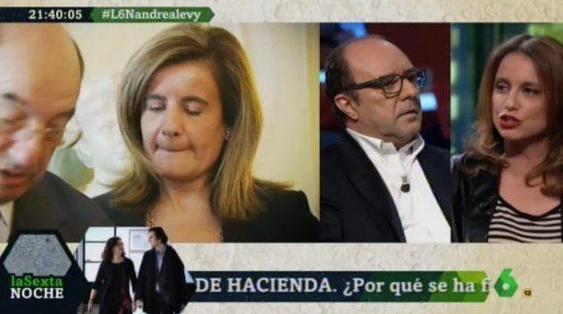 Jesús Maraña (Infolibre) y Andrea Levy en 'LaSexta