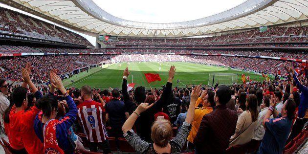 El Wanda Metropolitano se llena para ver el Atlético-Barça de fútbol